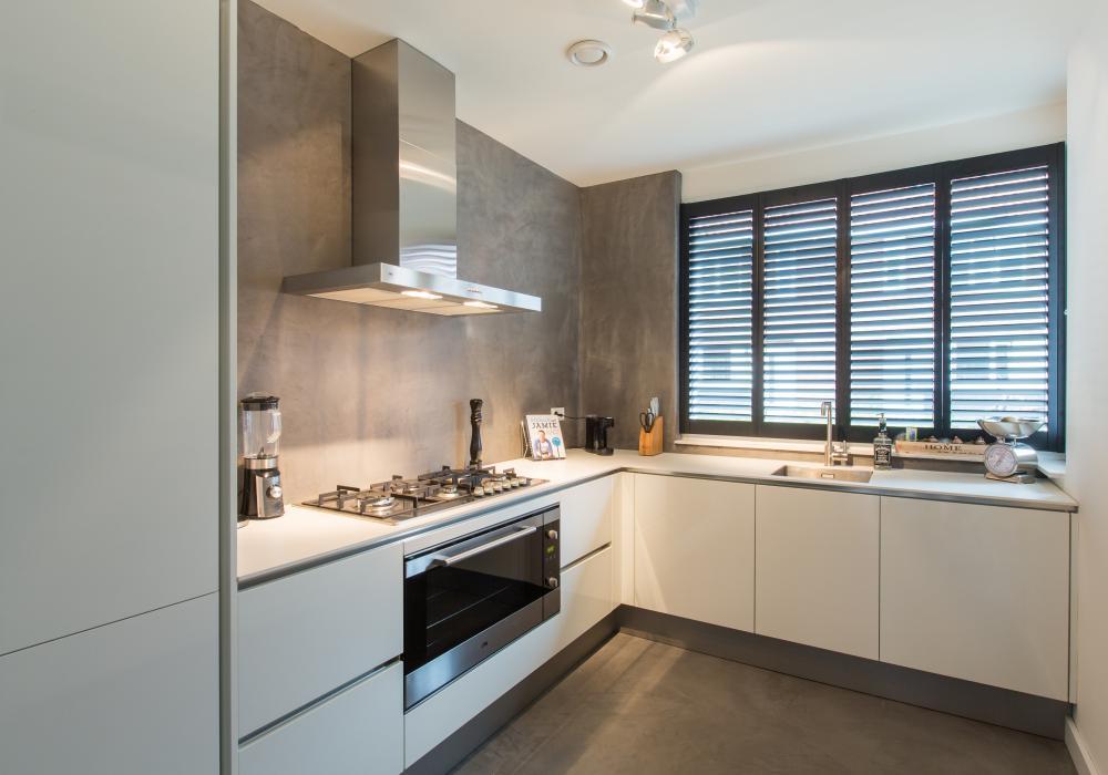 houten shutter op maat keuken
