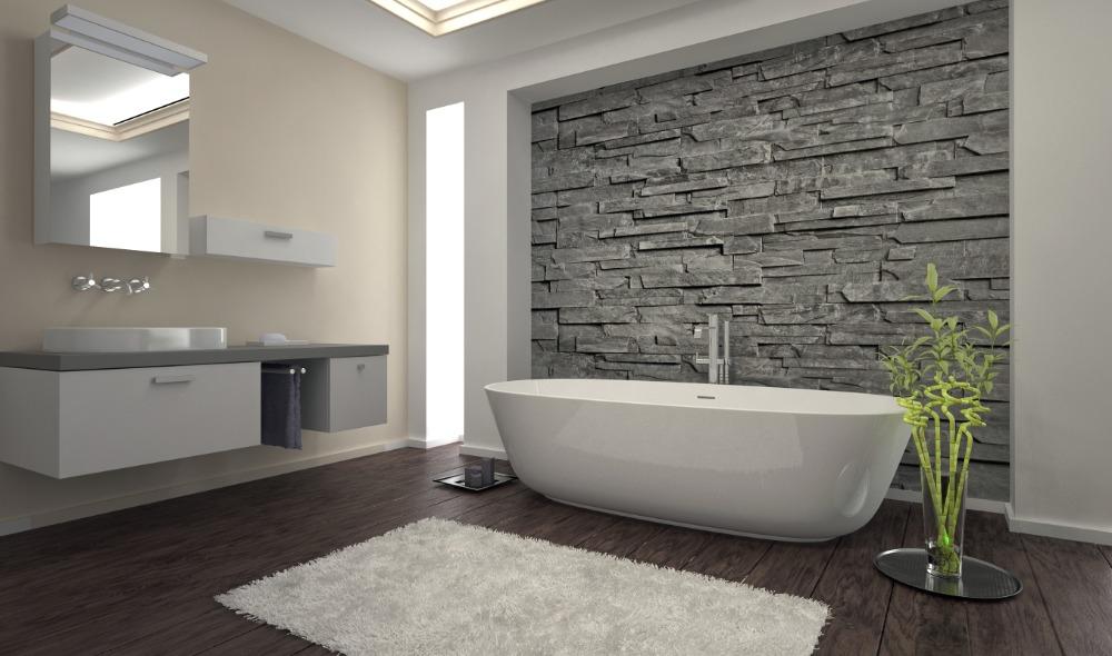 Een stijlvolle maar rauwe badkamer creëren